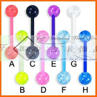 Hot sale body piercing jewelry,Tongue bar,Tongue ring,Acrylic Piercing,UV ball body jewelry
