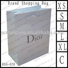 For cosmetic hot stamping special paper handle bag