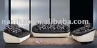 PU leather fabric sofa AB12