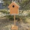 Outdoor bamboo bird house