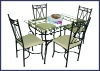 Tempered Glass Dining Room Furniture Sets XC-1B-001
