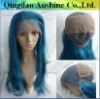 20 inch blue color glueless wig