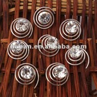 8 pcs Silver Plated Crystal Hair Twists Pins Spins(CHP-0001)