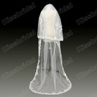 Real Photos 2012 New Arrival Applique Fashion Two-Layers White Bridal Wedding Dress Veils