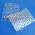 Plastic clamshell blister packaging tray for hardware