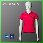 100% cotton clothes women new design red polo t shirt