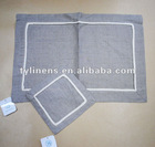 Natural ecru linen dining table Placemats and coasters