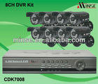 8CH H.264 CCTV Camera System, 8CH CCTV DVR Kit with 8 External Waterproof Cameras