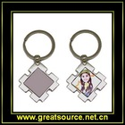 Diamond shape Keyring