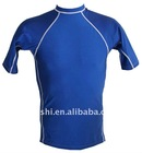 Mens Swim Shirt - Short Sleeve Rash Guard Shirt