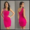 APP1009 New arrival Sheath one-shoulder fashion beaded elegant cheap new design sequined cocktail dresses cheap
