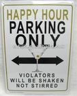 metal parking sign ,tin sign