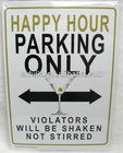 metal parking sign ,tin sign
