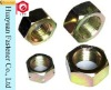 Yellow Zinc Hexagon Nuts DIN555