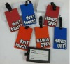 2013 Soft 2D 3D pvc luggage tag rubber luggage tag hands off don't touch
