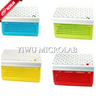 cute candy color pvc pencil case storage box