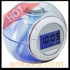 glowing led color change digital alarm clock