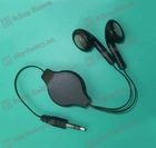 With 3.5 stereo plug headphone two way retractable cable Retractable cable/retractable headphone cable