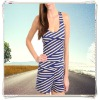 New Fall Sexy Open Back Striped Rompers Jumpsuits