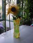 Foldable antique single flower vase
