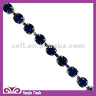 SS28 Silver Plating Sapphire Color Jewelry Chain