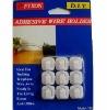Adhesive plastic wire holders