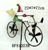 metal santa ride bike in garden stick for Xmas decor