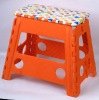colorful plastic folding stool
