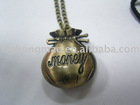 money bag metal pendant watch