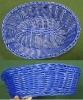blue color imitated rattan PP bread fruit baskets