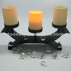 cheap led iron table standing plastic candle holder