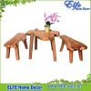 wooden root garden furniture