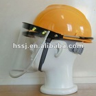 protective kit of helmet & PC/PVC plastic face guard