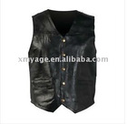 Men's Genuine Leather Vest Biker or Casual