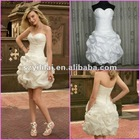 Real Sample! 100% Hand Made Sweet Heart Sheathy Short Mini Bridesmaid Dress/Evening Dresses
