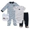 4 pcs set baby clothes set with 100% cotton fabric