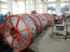 Tension applied to cable anti-twisting braided steel wire