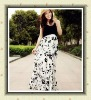 Ladies'elegant printing dress nice knitting jumper skirt