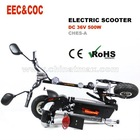 500W electric scooter EEC/COC approval