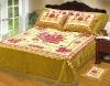 061 golden 4pcs blanket bedcover set