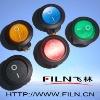 spst 3 pins on off mini round illuminted rocker switch 6a 250vac