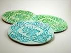 liquid absorbing ceramic coaster
