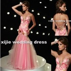2011 Sexy Mermaid Organza chiffon sweet heart beaded Evening Dress jessica-102