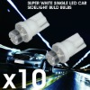 10xSUPER WHITE SINGLE LED CAR SIDELIGHT BULD BULBS
