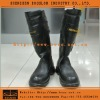 Military Officer Leather Knee Boots
