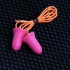 non-irritating pu earplug with cord