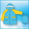 Shiny colorful design Professional OEM Raincoat,made of Polyester