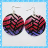 DKE131 elegant round colorful shell conch earrings
