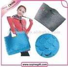 2012 new fashion fish scale felt shopping bag