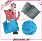 2012 new fashion fish scale felt shopping bag